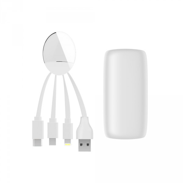Power Bank con cable multicarga Weekender